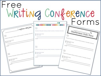 Free Writing Conference Forms