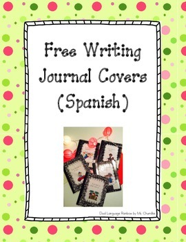 Escritura (Free Writing Journal Covers in Spanish)