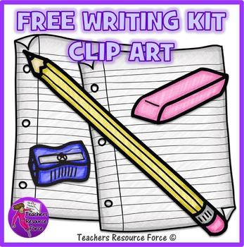 Free Writing Kit Clip Art: crayon effect