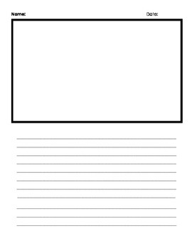 Free Writing Paper with Picture Spot Template