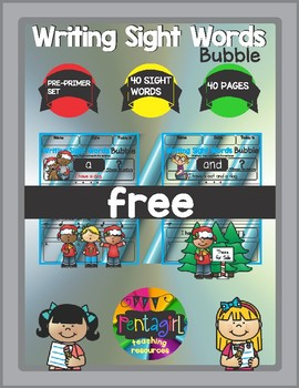 Free Writing Sight Words Bubble