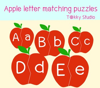Free download Apple letter matching puzzles clip art