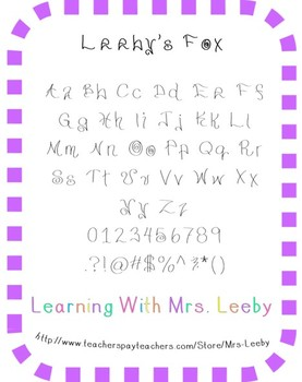 Free font for personal and commercial use - Leeby's Fox