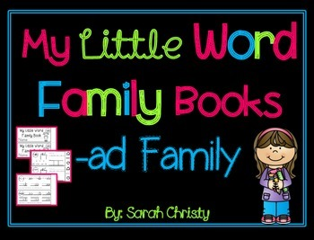 Word Family Little Book -ad Word Family