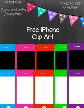 Free iPhone Clip Art ~ Black and White Master Copies Inclu