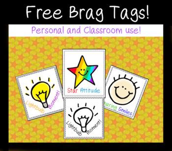 Free sample Brag Tags - Color and B&W