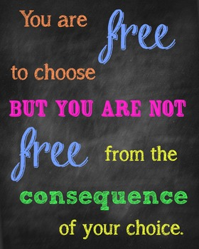 Free to Choose Consequences Poster-Chalkboard Style