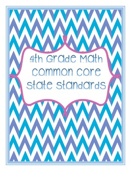 Freebie: 4th Grade Math Common Core Binder Covers
