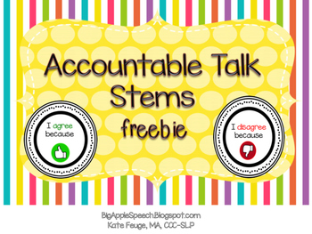 Freebie Accountable Talk Stems