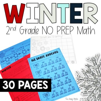 All Things Winter: 2nd grade Math Print and Go