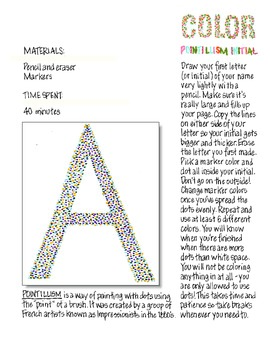 Freebie! Art Elements: Color and Pointallism