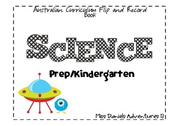 Freebie Australian Curriculum Flap Book Science Prep/Kindergarten