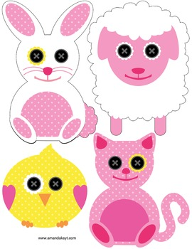 Freebie- Baby Doll Animals Photo Booth Photobooth Props