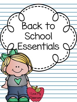 Freebie:  Back to School Essentials