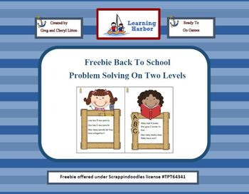 Freebie Back to School Problem Solving