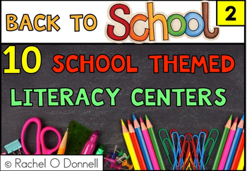 Freebie Back to School September Literacy Centers Second Grade