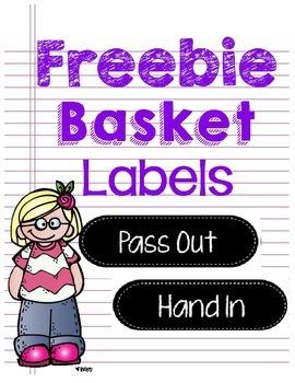 Freebie Basket Labels Chalkboard Theme
