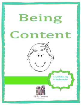 {Freebie} Being Content- Instant Bible Lesson