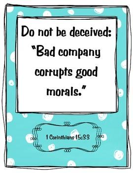 {Freebie} Bible Verse Poster- Friend