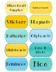 Freebie: Blue and Yellow Classroom Labels