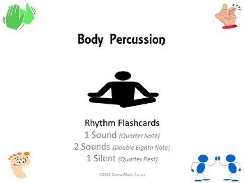 Freebie: Body Percussion Performance Flashcards: 1 Sound,