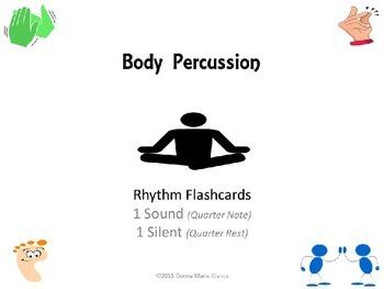 Freebie: Body Percussion Performance Flashcards: Rhythm: 1