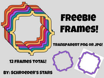 Freebie Bracket Frames!