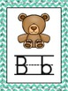 Turquoise Chevron Alphabet Cards w/ Bonus Vowel Poster