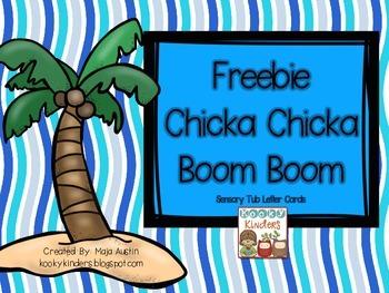 Freebie Chicka Chicka Boom Boom Sensory Tub Letter Cards