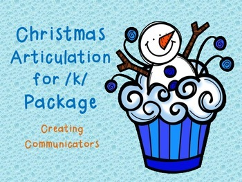 Freebie----Christmas Articulation Pack for /k/