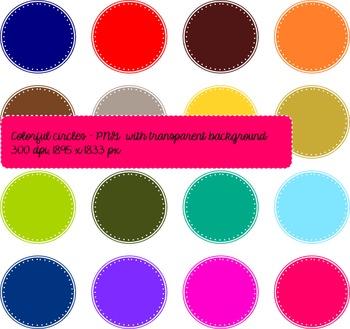 FREEBIE Clip Art Color Circles stitch design clipart comme