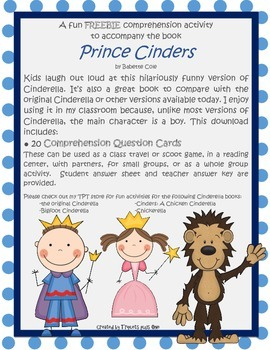 Freebie Comprehension Activity for Prince Cinders
