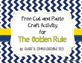 Freebie Cut and Paste Craft for The Golden Rule