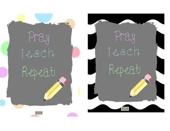 Freebie-Cute Religious, Christian, Catholic Classroom Post