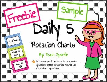 Freebie Daily 5 Rotations Choice Charts Sample