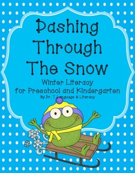 Freebie: Dashing Through the Snow Winter Literacy for PreK