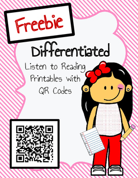 Freebie Differentiated Listen to Reading Printables Sample