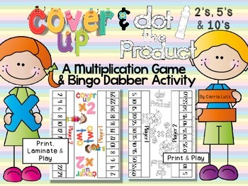 Cover Up & Dot the Product Multiplication Games ~ 2's, 5's