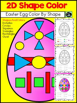 Freebie Easter Egg Color By Shape