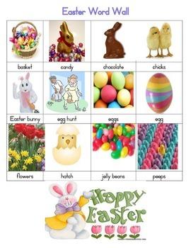 Freebie: Easter Word Wall