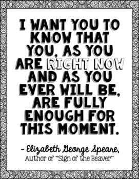Freebie! Elizabeth George Speare Author Quote Art - Sign o