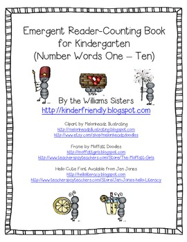 Freebie~ Emergent Reader Picnic Fun Counting Book