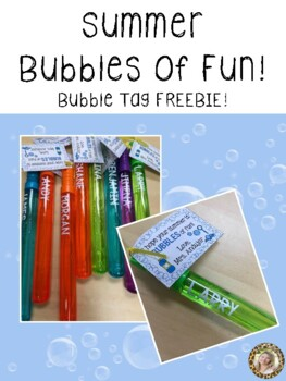 {Freebie} End of Year Summer Bubbles of Fun Tags