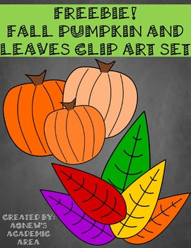Freebie Fall Clip Art Set: Commercial Use Allowed!