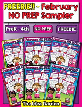 Freebie - February NO PREP Sampler
