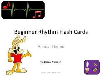 Freebie: Flashcards: Rhythm: Animal Pictures: Traditional