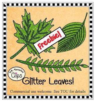 Freebie! Glitter Leaves