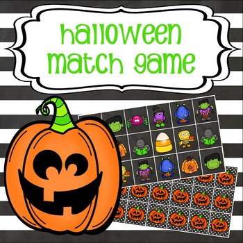 Freebie! Halloween Match Game for Whiteboard or Computer