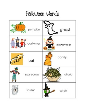 Freebie: Halloween Words