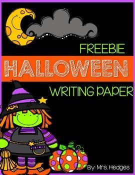 Freebie Halloween Writing Paper